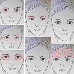 selfmassage ocular area